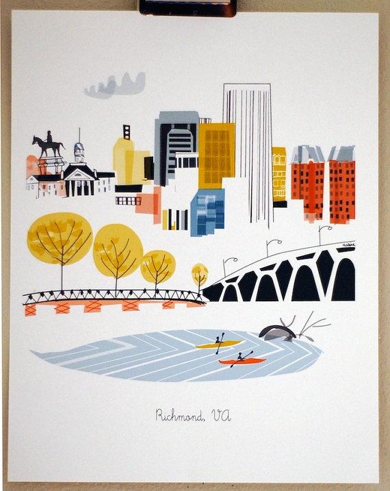 City Illustrations (Richmond, VA)