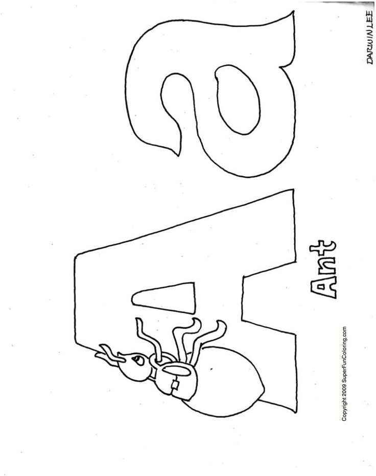 Alphabet Coloring Pages - Free Coloring Pages to Print