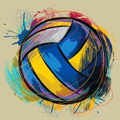cool colored volleyball images - Google Search