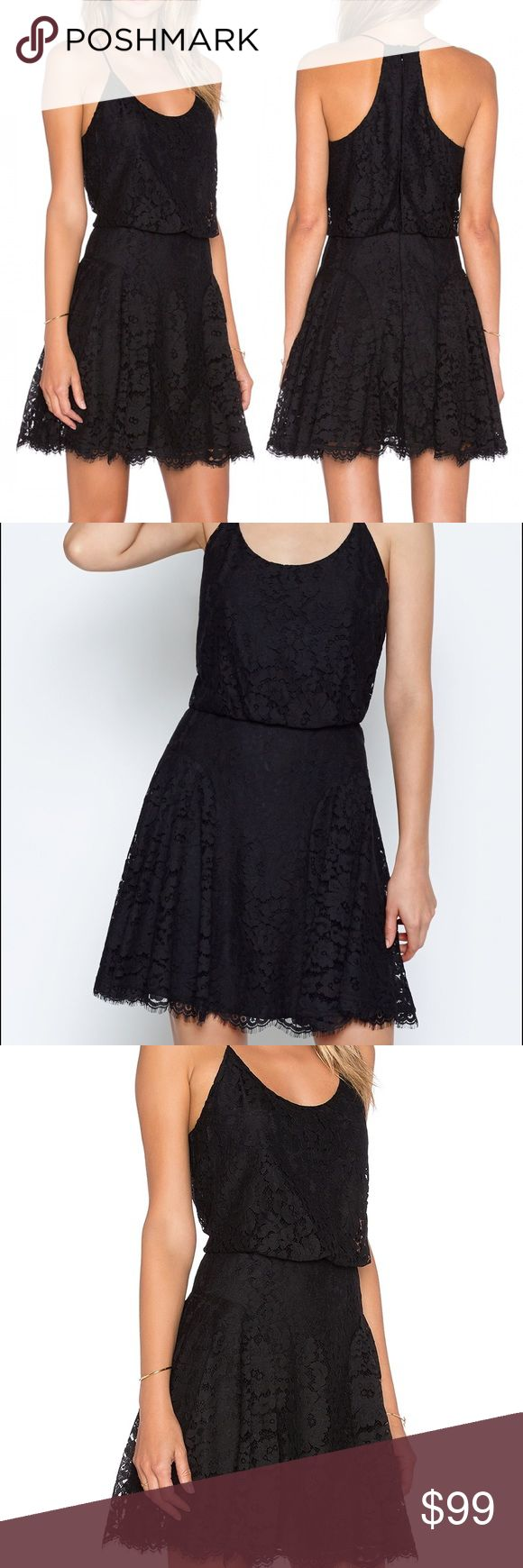 JOIE NANON B Dress Caviar Black This fit-and-flare lace dress has a blouson top with thin straps and a coquettish racerback. Inverted pleats on the skirt add extra movement, making this a perfect LBD for party season. Back zip closure. Scooped neck. Sleeveless. Lined. 58% nylon, 42% cotton. Joie Dresses