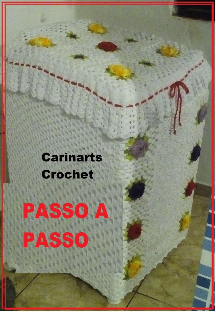 Capa para a Maquina de lavar em crochê (2°parte) por Carina Dias