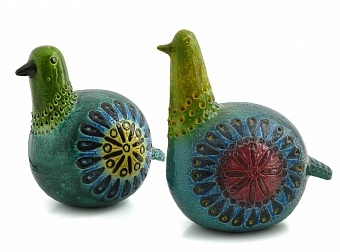 Vintage Italian pottery - image courtesy of ALLA MODA exhibition