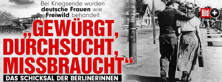 """Fliegerbomben! Flüchtlingstrecks! Vor 70 Jahren stand Nazi-Deutschland vor dem Untergang. Hunderttausende Frauen wurden von alliierten Soldaten misshandelt, missbraucht – bis weit nach Kriegsende. In ihrem Buch """"Als die Soldaten kamen"""" zitiert Autorin Miriam Gebhardt Berliner Polizeiberichte, die die Leiden der Vergewaltigungsopfer protokollieren http://www.bild.de/bild-plus/politik/inland/zweiter-weltkrieg/schicksal-der-berlinerinnen-39909778,var=a,view=conversionToLogin.bild.html"""