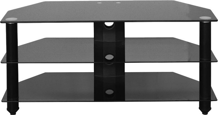 sales@spt-furniture.com    Bromley TV Stand Black Glass/Black Assembled Sizes(MM) 920 x 380 x 4 Extra Information GLASS THICKNESS 8/5MM SHELF SPACE W920 D380 H180 BOT SHELF SPACE W920 D380 H170 MAXIMUM WEIGHT ON TOP 30KGS MAXIMUM WEIGHT ON SHELVES 20KG