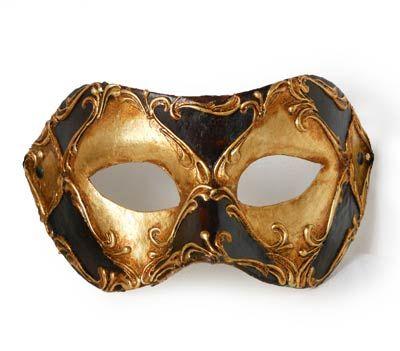 Colombina cuoio passamaneria F64 « Atelier Marega Maschera tradizionale veneziana