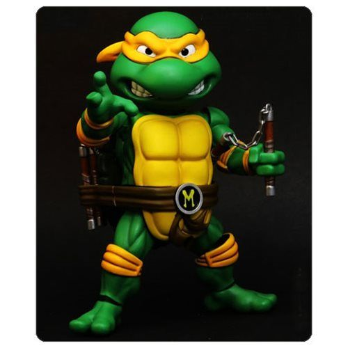 TMNT Michelangelo HMF Die-Cast Metal Action Figure - Herocross - Teenage Mutant Ninja Turtles - Action Figures at Entertainment Earth