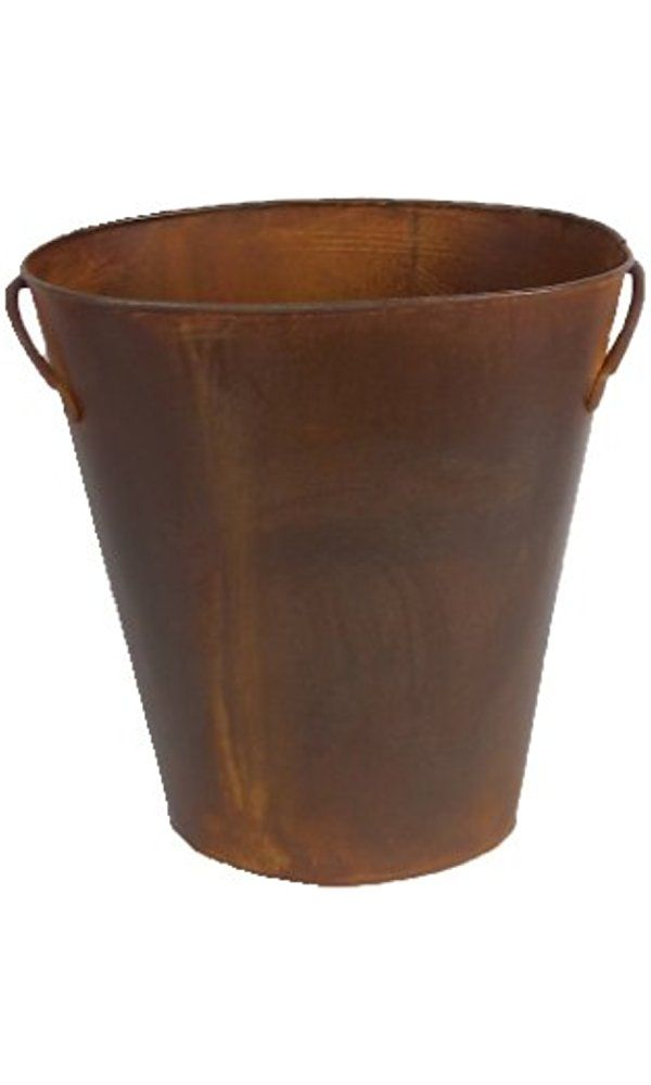 Craft Outlet Rustic Waste Basket with Handles, 12-Inch Best Price
