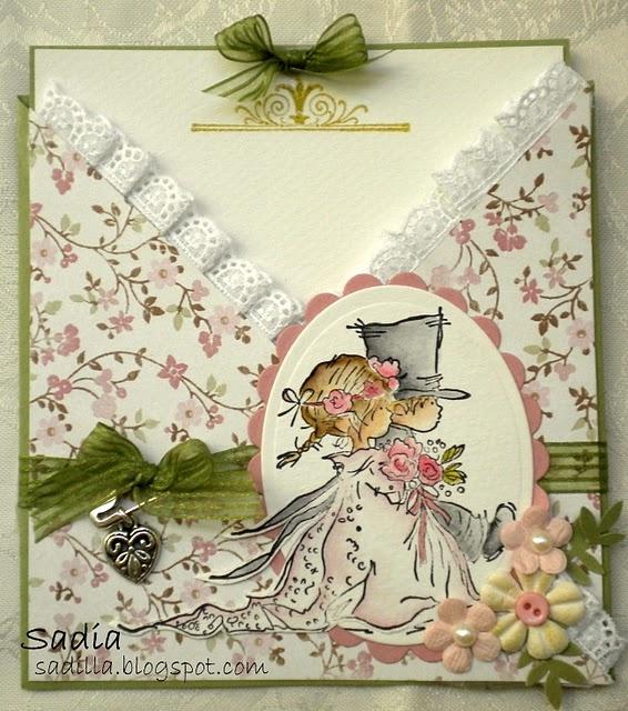 Wedding criss cross card