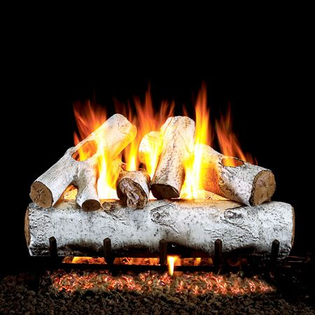 Real Fyre White Birch Vented Gas Log Set Learnshopenjoy