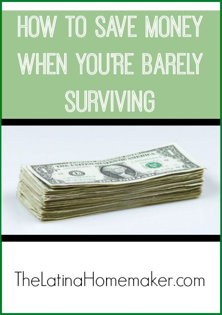 How To Save Money When You're Barely Surviving: Simple tips to help you save money even when your income is low and your budget is very tight.