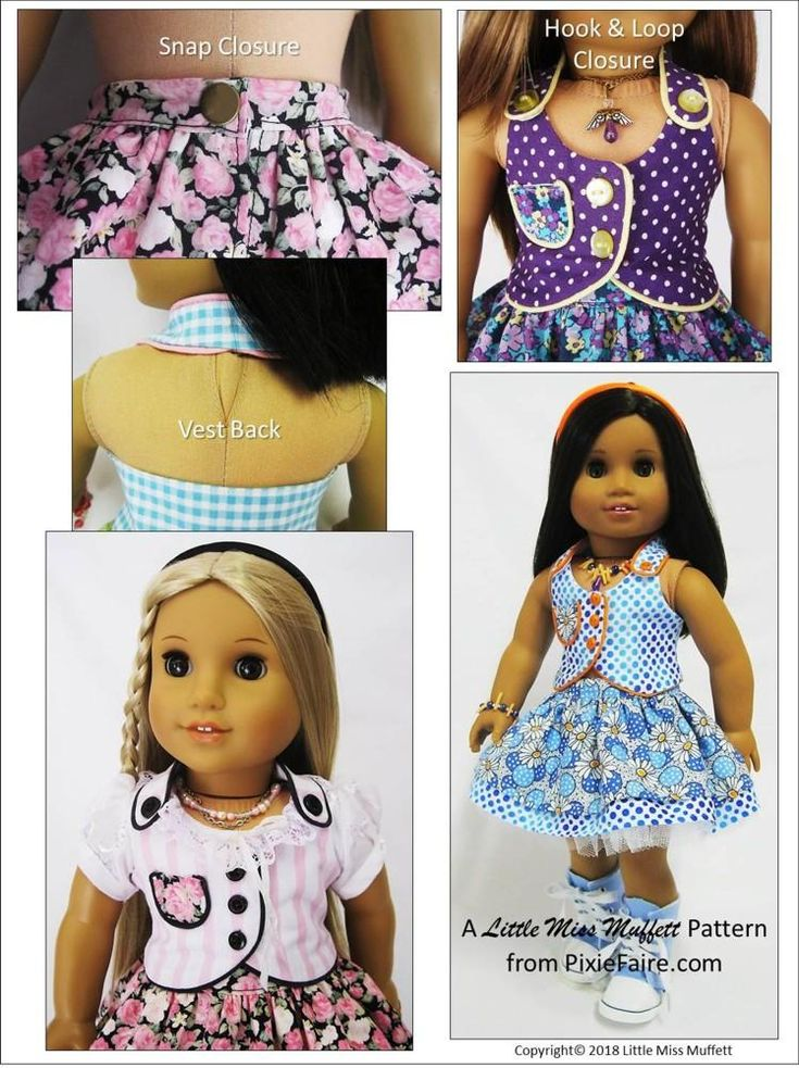 """Spring Fever 18"""" Doll Clothes Pattern"""