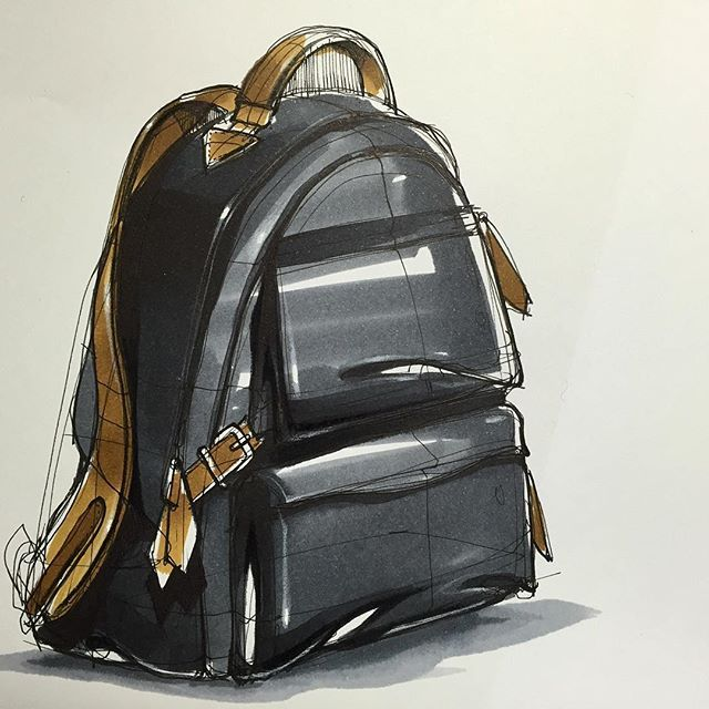 백팩(BackPack) Sketch & Marker www.skeren.co.kr #backpack #backpacksketch…