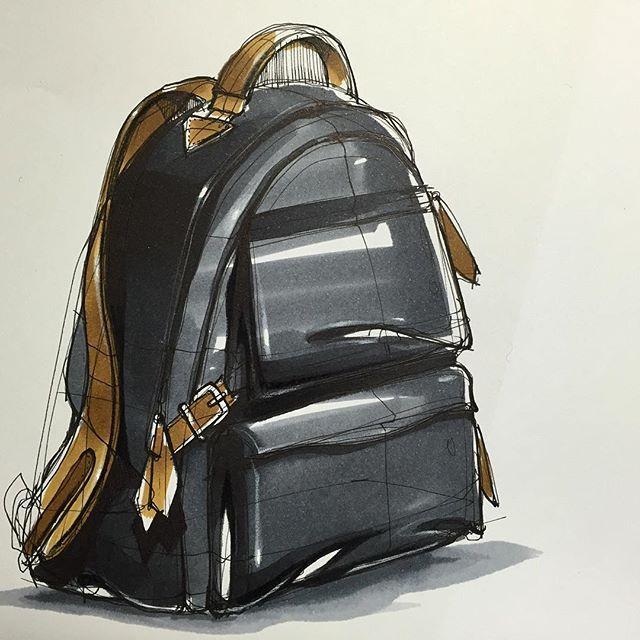 백팩(BackPack) Sketch & Marker www.skeren.co.kr  #backpack #backpacksketch…