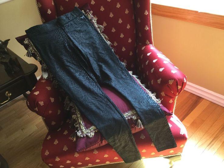 Victorias Secret PYTHON PRINT LEGGING BLACK Snake Print Faux Leather Texture XS  #VictoriasSecret