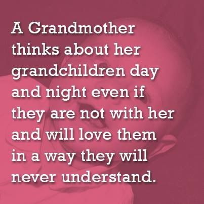 """""""A Grandmother thinks of her grandchildren day and night even if they are not…"""