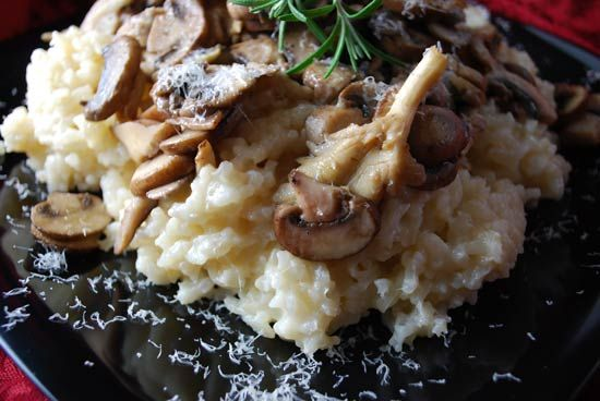 Crock Pot Risotto. Yep, you heard me right.  I was also skeptical, but I was so determined to bring risotto to a work potluck once, that I decided to try it out. It turned out totally amazing!  And no standing over the stove for 40 minutes stirring!  Try it!  I added chorizo and spicy Italian sausage to this recipe.  And probably extra mushrooms, because mushrooms are awesome.