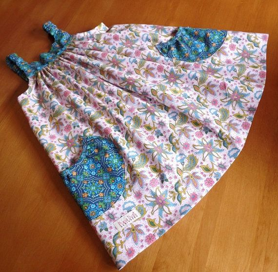 Pink Blue Sundress Sizes 2-4-6 one in each by PixieDustDesigne