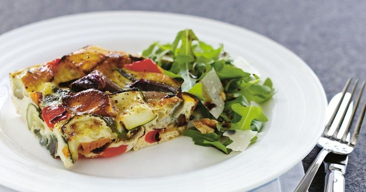 Use up any leftover vegetables in this delicious family-sized frittata.