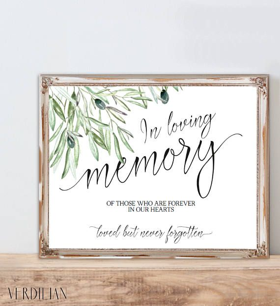 In Loving Memory Wedding Sign Template Memorial Table Sign Printable In Memory Sign Wedding Sign Editable Diy Pdf Template Vrd135oms Sign Templates Wedding Signs Wedding Memorial