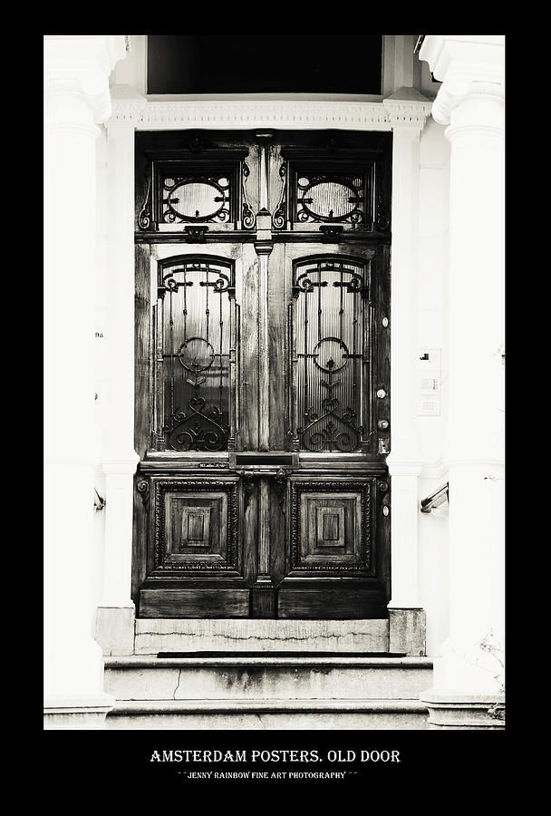Amsterdam Posters. Old Door by Jenny Rainbow
