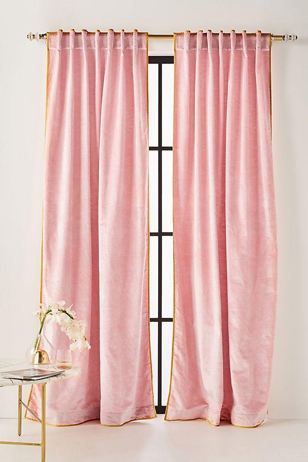 Velvet Curtains Pink, How To Wash Cotton Velvet Curtains
