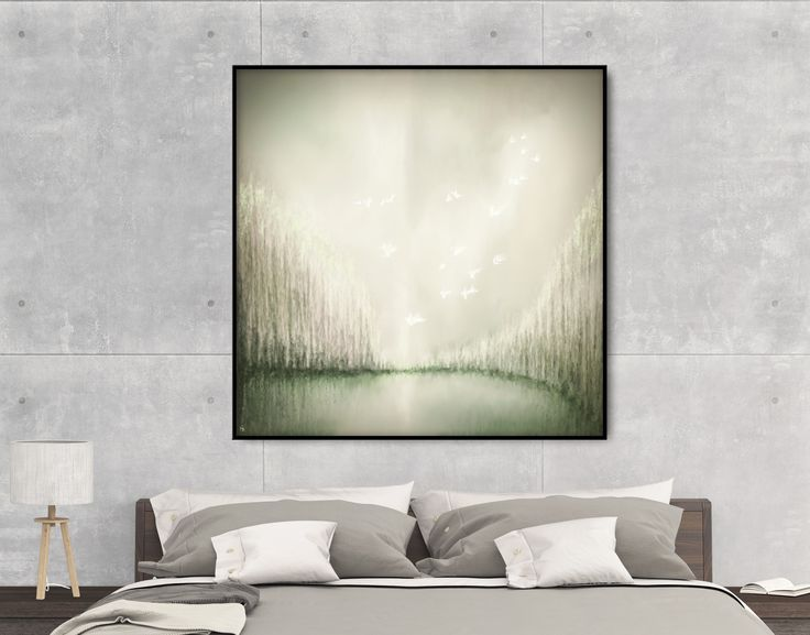 Bring an evocative touch to your gallery wall! Gray abstract landscape. Original on Perspex (Plexiglas) and prints by FraBor Art on Saatchi.   #walldecor #homedecor #interiordesign #painting # modernart #minimalist #abstract #digital #digitalart #art #fraborart #saatchi #saatchiart #saatchiartist #saatchigallery #saatchiartilove