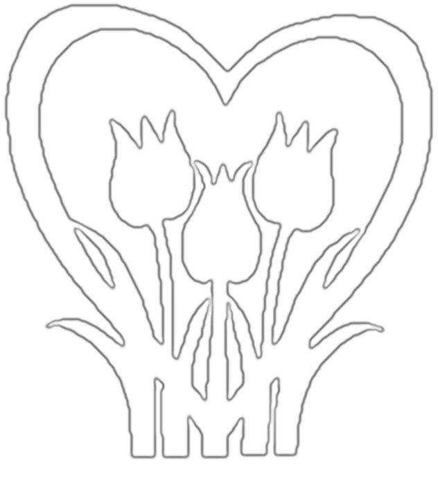 tulipány vystrihovačka pozri https://sk.pinterest.com/pin/340232946829427145/