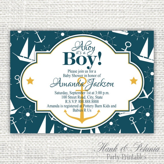 21 best nautical baby shower images on pinterest boy shower boy printable diy nautical baby shower 1000 via etsy filmwisefo Image collections