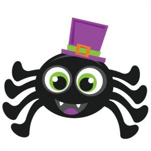 spider halloween clipart cute clip svg silhouette cartoon miss cuttables kate cricut cut scrapbook svgs purple file misskatecuttables doll graphics