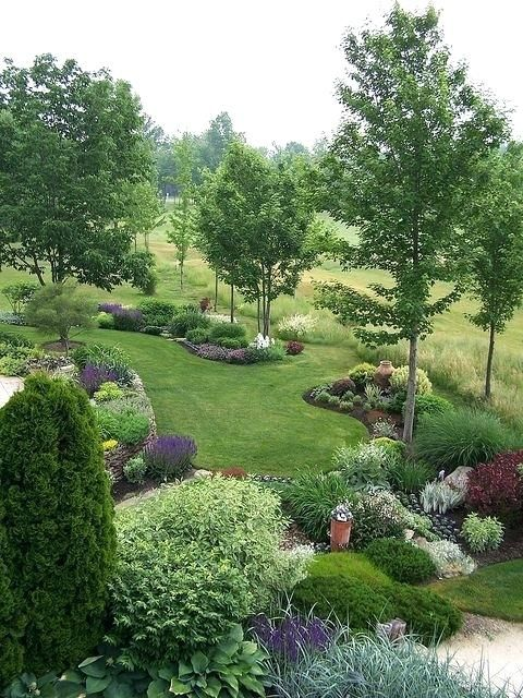 landscape berms and mounds trees