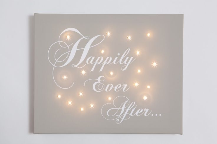 Wedding Gifts For Couples Argos : Happily Ever After Illuminated Canvas Wedding and Anniversary Gift ...