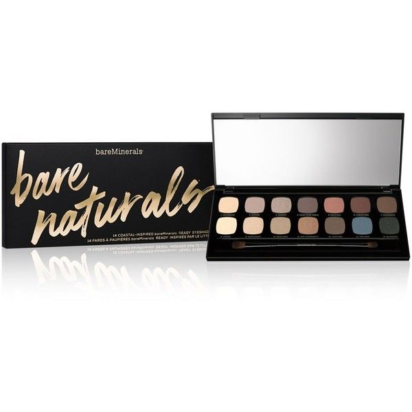 Bare Escentuals bareMinerals bareNaturals Ready 14.0 Eyeshadow Palette (249460 PYG) ❤ liked on Polyvore featuring beauty products, makeup, eye makeup, eyeshadow, no color, palette eyeshadow, mineral eyeshadow, bare escentuals, bare escentuals eyeshadow and creamy eyeshadow