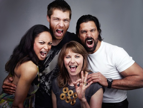 This cast - Spartacus: Vengeance    Lucy Lawless  Liam McIntyre  Manu Bennett  Cynthia-Addai Robinson