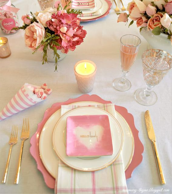 Rosemary and Thyme: Chic Valentine's Day Table for Valentine's Day