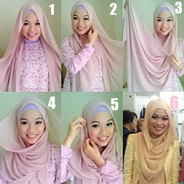 Hijab tutorial - Pashmina - gdaghaida
