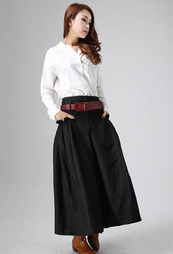 long black skirtBlack skirt womens skirts pleated skirt