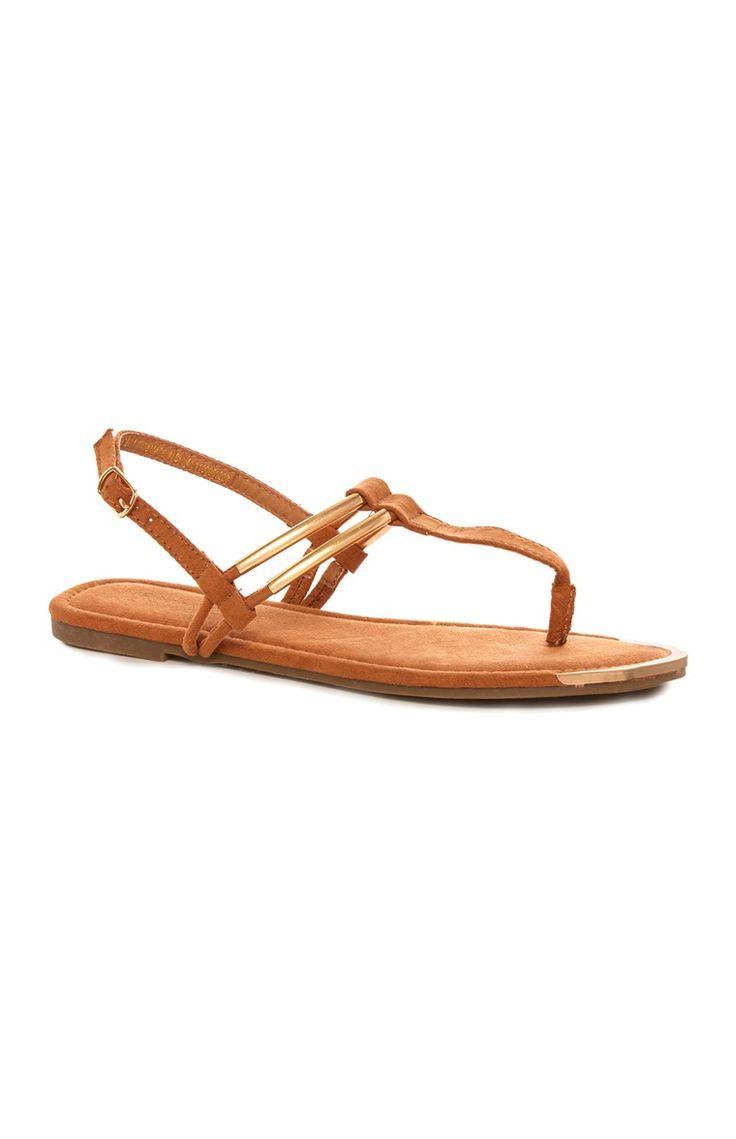 Primark - Tan Metal Strap Sandal