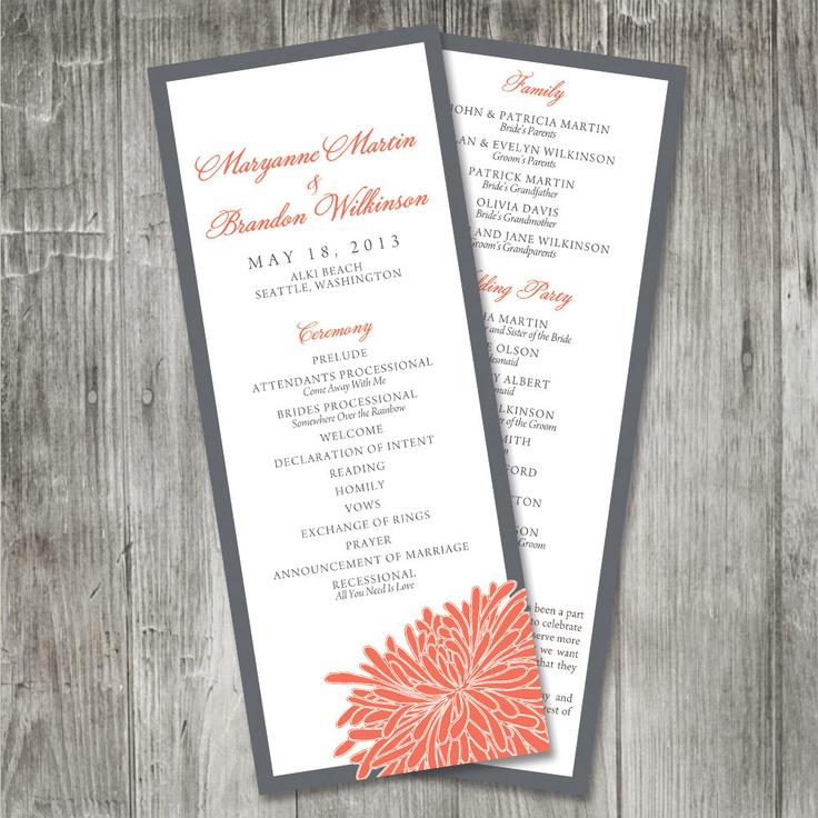 9 best Wedding Programs images on Pinterest