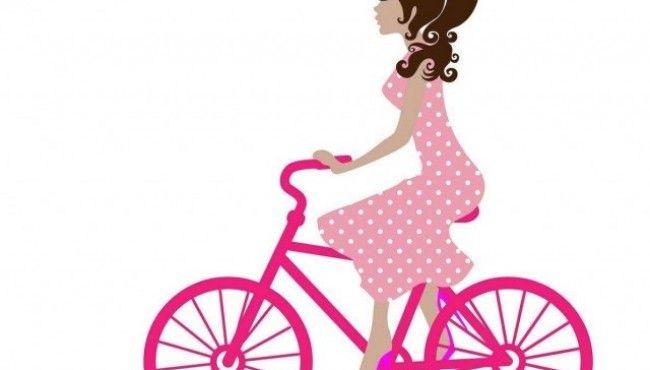 Belle e magre in bicicletta