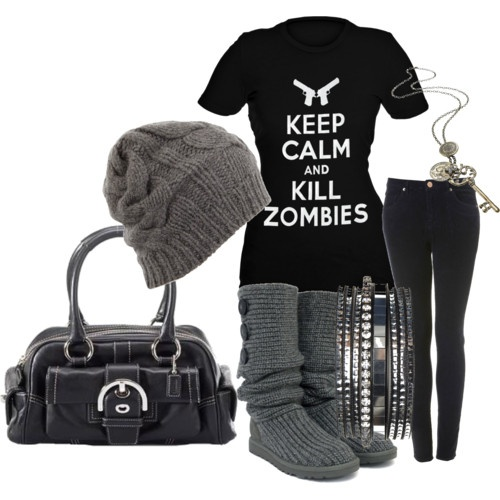 Love this!!!Fashion, Kill Zombies, Style, Closets, Shirts, Clothing, Outfit, Keep Calm, Black
