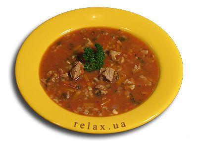 Суп харчо с гранатовым соком
