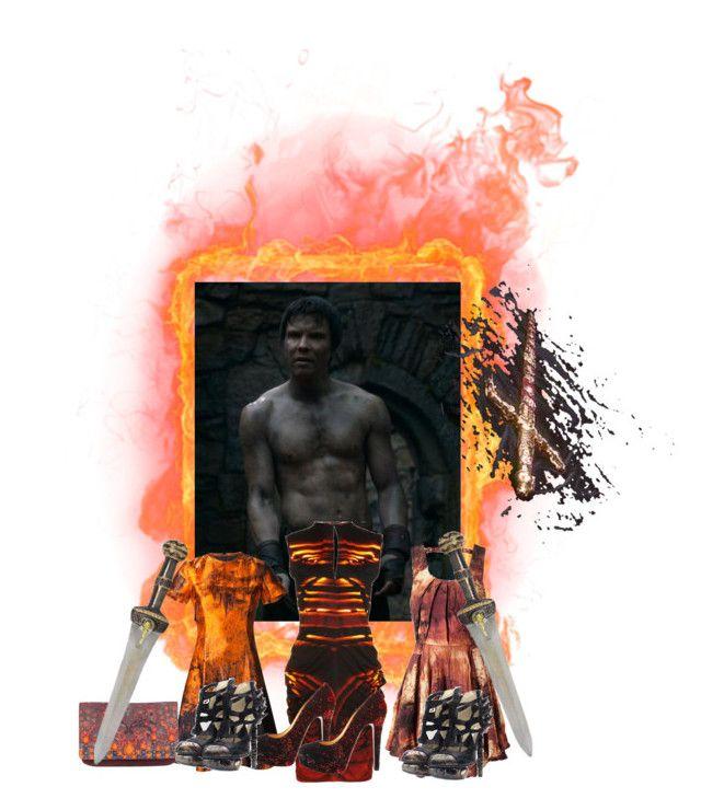 """Hephaestus Played by Joe Dempsie."" by lillian-pandola ❤ liked on Polyvore featuring Zero + Maria Cornejo, Proenza Schouler, Felder Felder, Matthew Williamson, Christian Louboutin and Rodarte"