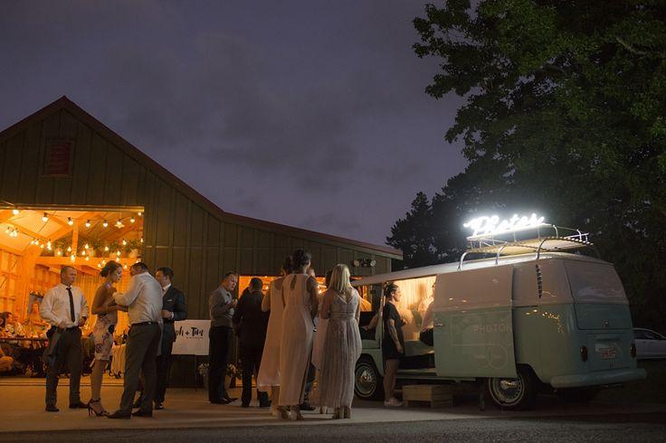 Photokombi photo booth at barn wedding by Sadie & Co, photobooth, wedding entertainment, kombi van
