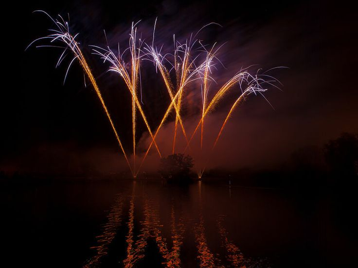 Fireworks Over Water at Billericay
