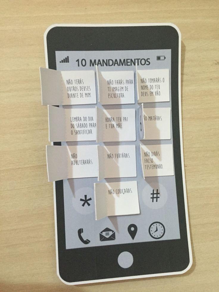 10 mandamentos - teclas abertas com os mandamentos
