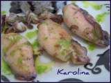Receta Chipirones con salsa de perejil y salsa negra de mejillón (tuneo dolorss)