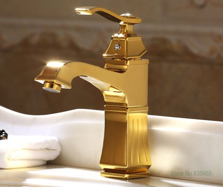Luxury Gold Deck Mounted Bathroom Lavatory Basin Vessel Sink Mixer Tap Hot And Cold Water Faucet Plumbing Valve Accessories