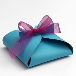 Make a paper gift box in less than 5 minutes. Any color any time and quicker than running to the store for a small box!