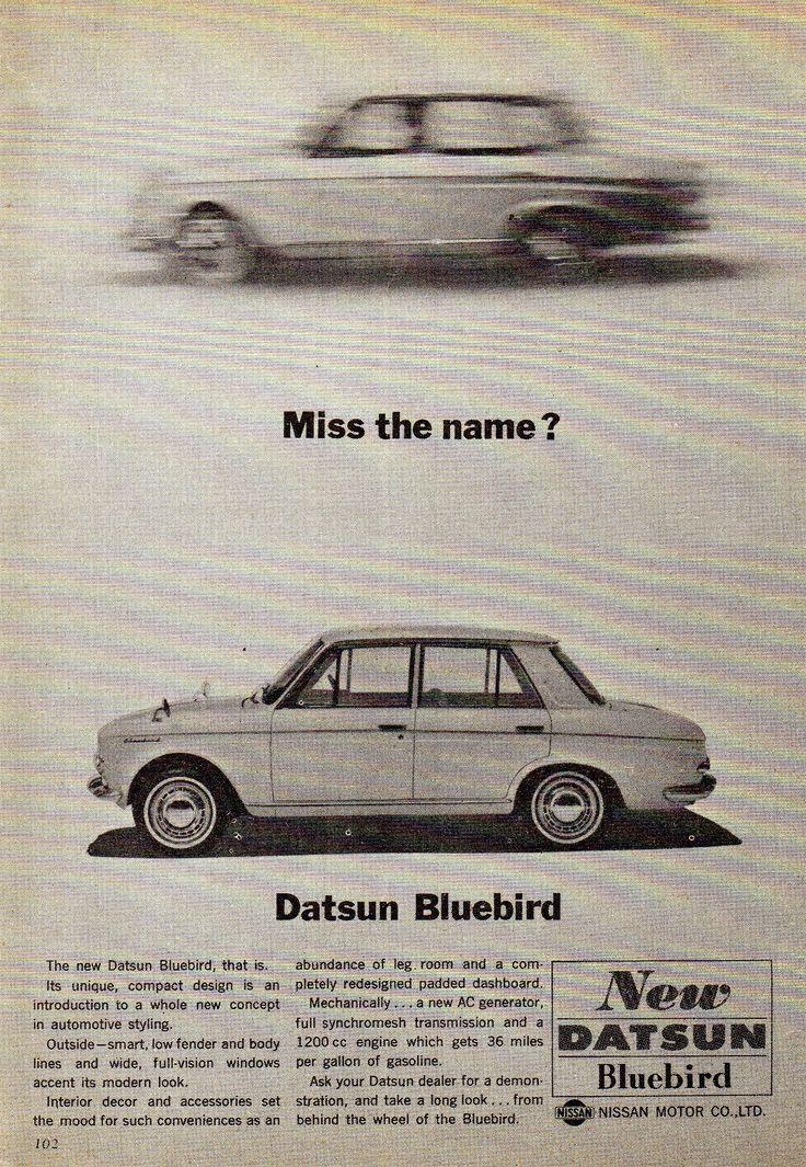 https://flic.kr/p/21SDd2d   1964 Datsun Bluebird 4 Door Sedan Nissan Aussie Original Magazine Advertisement