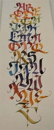 Workshop Review 2012 - Utah Calligraphic Artists. Alphabet by Carole Taylor I have the original framed copy. LT